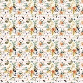 "1"" Western Autumn / More Florals / Pink Stripes"