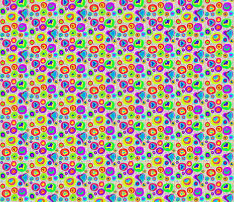 A Scatter of Sweetheart Sweeties on Rainbow Speckles fabric by rhondadesigns on Spoonflower - custom fabric