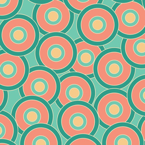 Colorful abstract pattern inspired by 60s