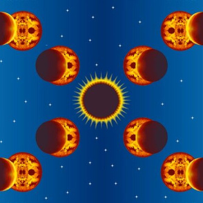 Eclipse of a Fractal Sun
