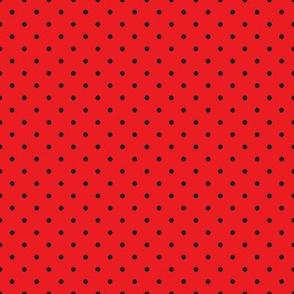 BBQ Red Black Dot