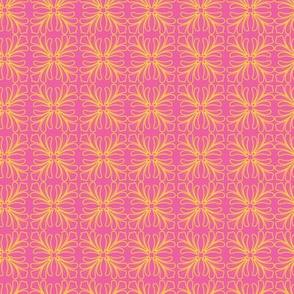 Flamingo Tropical Scroll