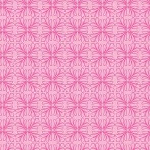 Flamingo Pink Scroll