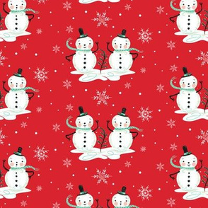 Snowman_Couple_on_Red