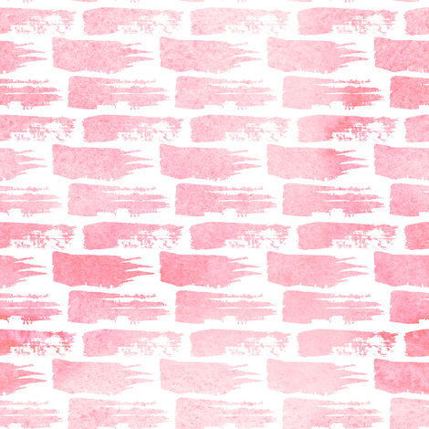 "8"" Different Strokes - Pink fabric by rebelmod on Spoonflower - custom fabric"