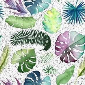 "8"" Tropical Leaves - Black Spots"