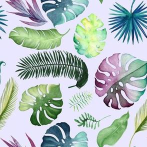 "8"" Tropical Leaves - Lavender"