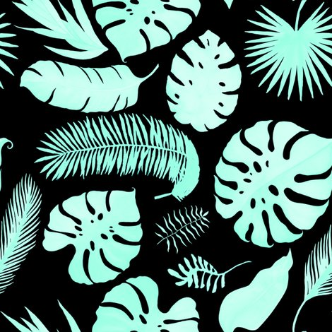 Tropicalleavessilhouetteaquablack_shop_preview