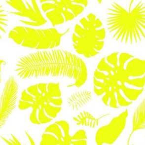 "8"" Tropical Leaves - Silhouette Bright Yellow"