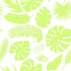 "8"" Tropical Leaves - Silhouette Lime Green"