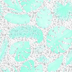 """8"""" Tropical Leaves - X-Ray Aqua"""