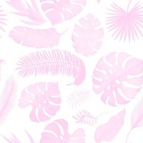 "8"" Tropical Leaves - Silhouette Pink"