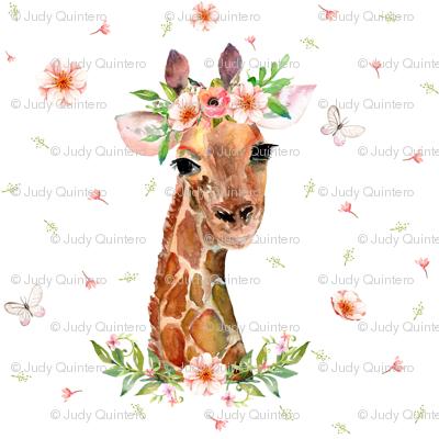 "2"" Floral Giraffe"
