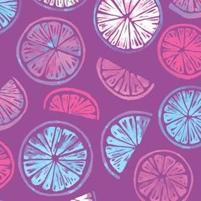 Citrus Wheels - plum and berry