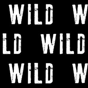 "2"" WILD  // black"