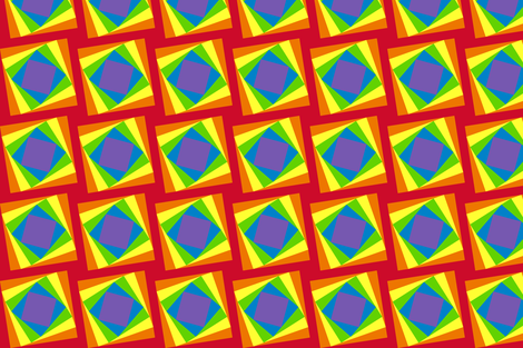 Twisted Squares Rainbow Optical Illusion Quilt Fabric fabric by leah_day on Spoonflower - custom fabric
