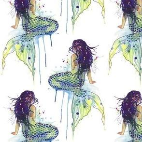 Mermaid - watercolor