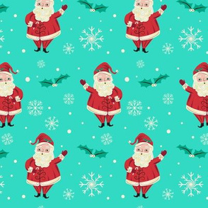 Retro_Waving_Santa_Vivid_Aqua_smaller