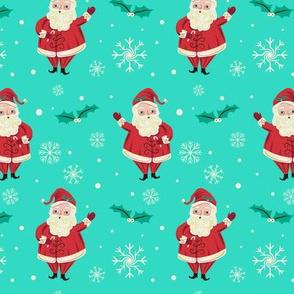 Retro_Waving_Santa_Vivid_Aqua_smaller