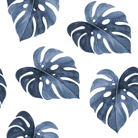"8"" Nights in Havana - Blue fabric by rebelmod on Spoonflower - custom fabric"