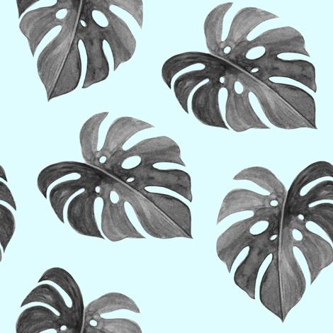"8"" Nights in Havana - Black & White Blue fabric by rebelmod on Spoonflower - custom fabric"