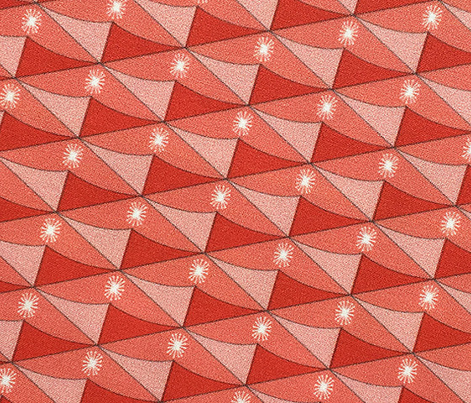 Halakahiki* (Space Fruit) || pineapple geometric star starburst atomic midcentury modern diamonds living coral