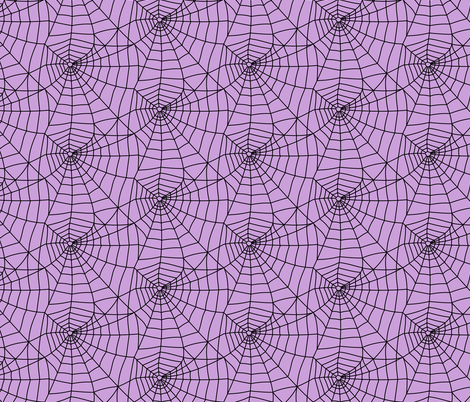 spider webs - black on purple - halloween fabric fabric by littlearrowdesign on Spoonflower - custom fabric