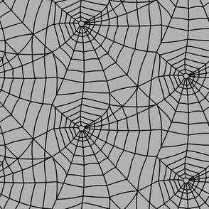 spider webs - halloween - black on grey