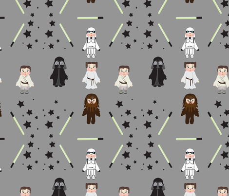 Bears in Space Cement grey, galaxy, baby, kids, stars, light saber fabric by applebutterpattycake on Spoonflower - custom fabric