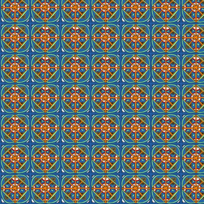 Lapis Lazuli Kaleidoscope Squares - Small