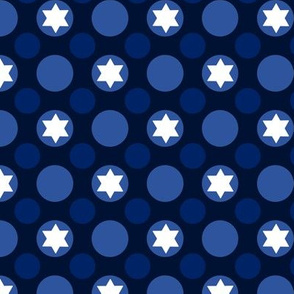 Star of David Polka Dots