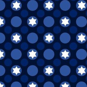 Star of David Polka Dots