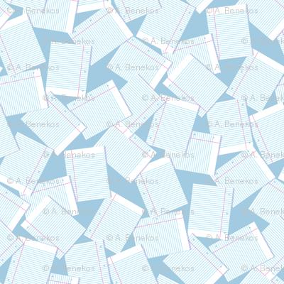 Notebook Paper Scatter - Lt. Blue