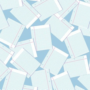 Notebook Paper Scatter - Lt. Blue