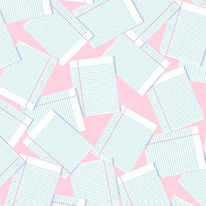 Notebook Paper Scatter - Pink