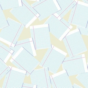 Notebook Paper Scatter - Beige