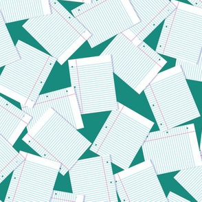Notebook Paper Scatter - Jade