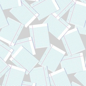 Notebook Paper Scatter - Gray
