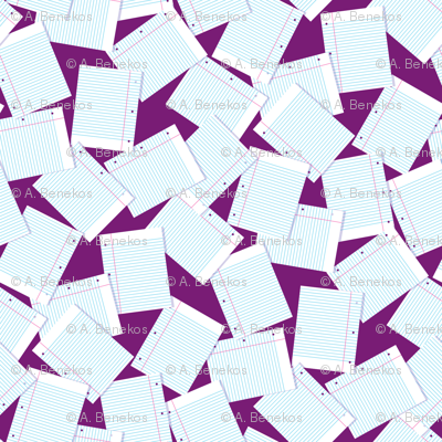 Notebook Paper Scatter - Plum