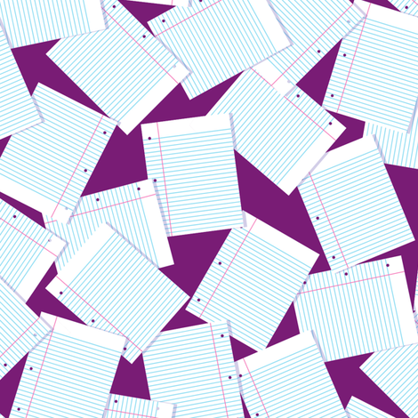 Notebook Paper Scatter - Plum fabric by siya on Spoonflower - custom fabric