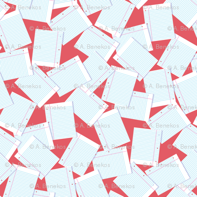 Notebook Paper Scatter - Red