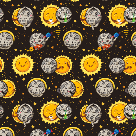 Solar Eclipse fabric by penguinhouse on Spoonflower - custom fabric