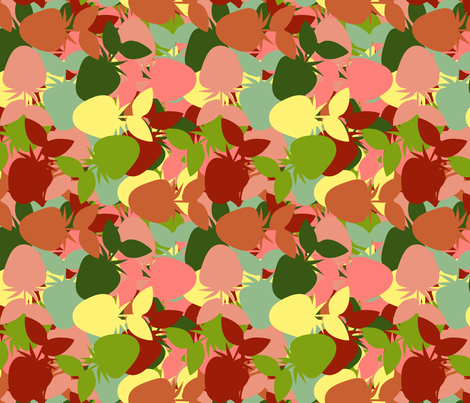 Strawberry_Kaleidoscope_Autumn fabric by anino on Spoonflower - custom fabric