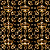 Gold_queen_of_hearts_crowns_tiaras_black_fabric_42x36in_150_dpi_shop_thumb
