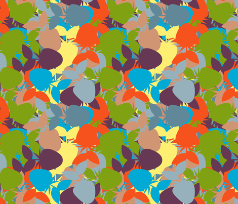 Strawberry_Kaleidoscope_Handsome fabric by anino on Spoonflower - custom fabric