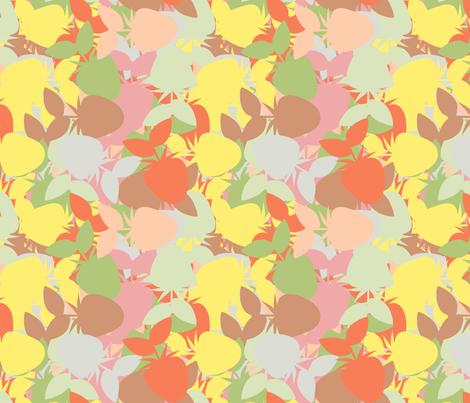 Strawberry_Kaleidoscope_Pastel fabric by anino on Spoonflower - custom fabric