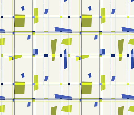 blue-green-grid2 fabric by wren_leyland on Spoonflower - custom fabric