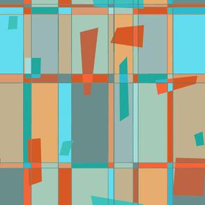 Mod grid-red-mint green