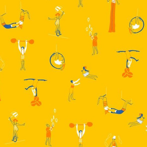 Circus Performers in yellow