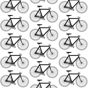 black and white bicycles